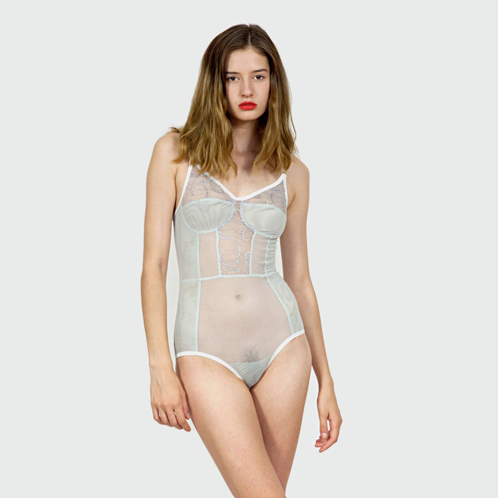 4ab7a2ff4214 Lace Bodysuit - Mertie by Bully Boy Lingerie - Sweet Hitchhiker NYC